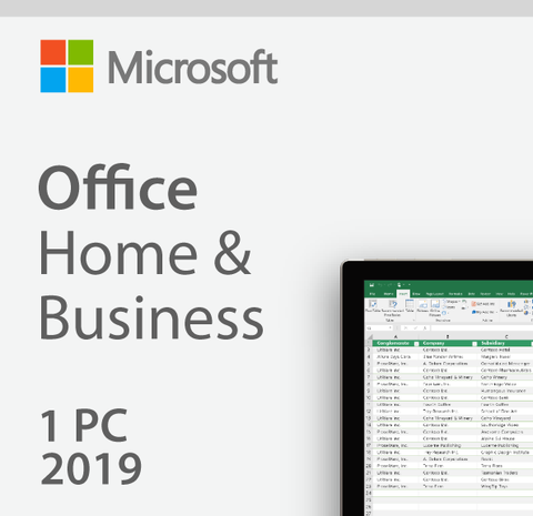 MICROSOFT OFFICE HOME AND BUSINESS 2019 [PC or MAC]