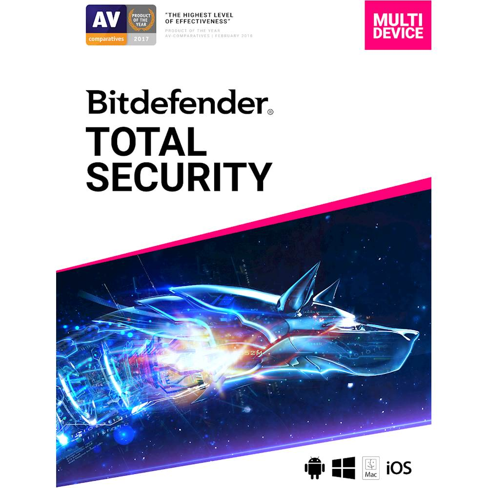 Bitdefender Total Security 2019 (5-Device) (1-Year Subscription)