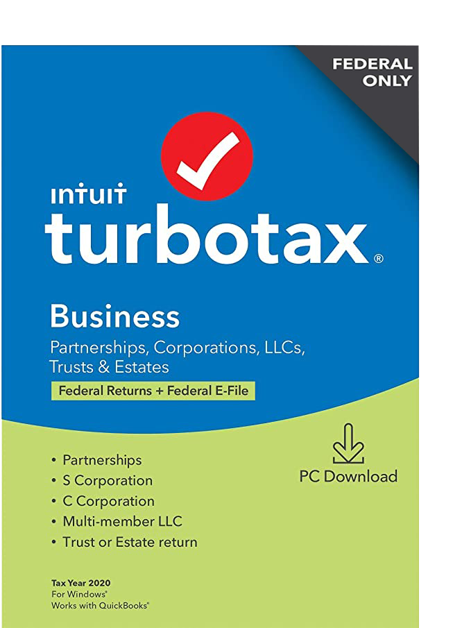 TurboTax Business 2020, Federal Return Only [PC Download]