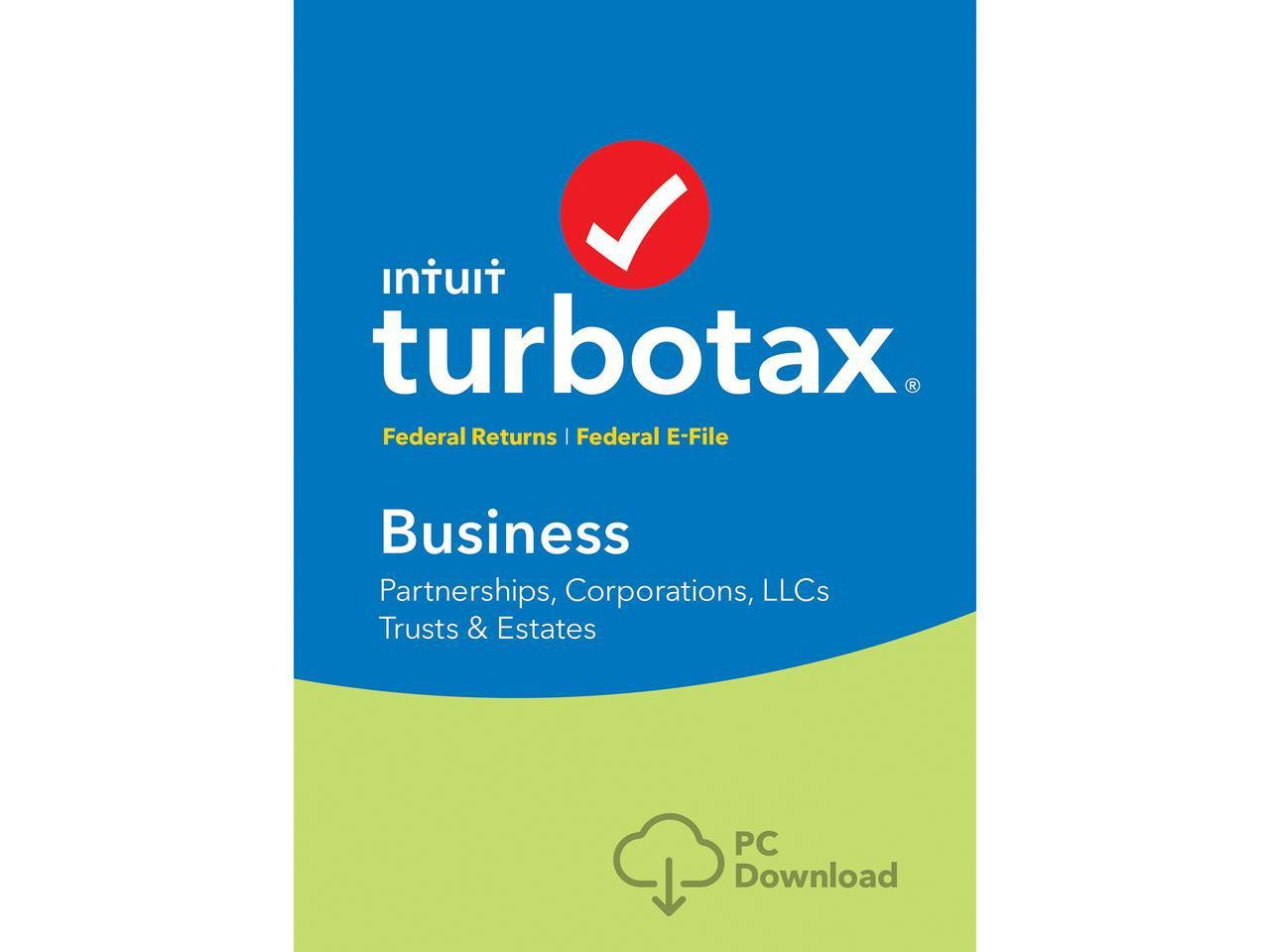 TurboTax Business 2018 Federal + Efile Windows - Download